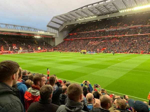 Anfield, section: KG, row: 16, seat: 27
