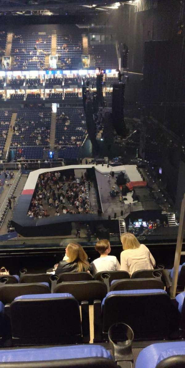The O2 arena, section: 422, row: E, seat: 467
