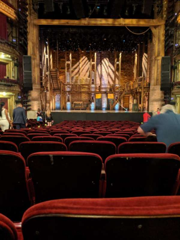CIBC Theatre, section: Orchestra C, row: V, seat: 108