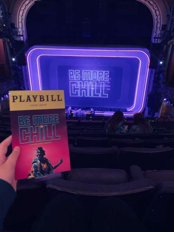 Lyceum Theatre (Broadway), section: Mezzanine C, row: H, seat: 104