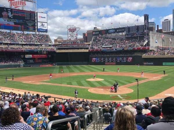 Target Field, section: 115, row: 15, seat: 13