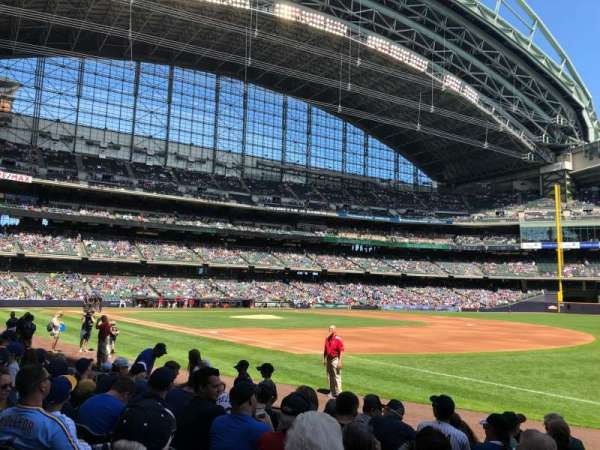 Miller Park, section: 110, row: 9, seat: 18