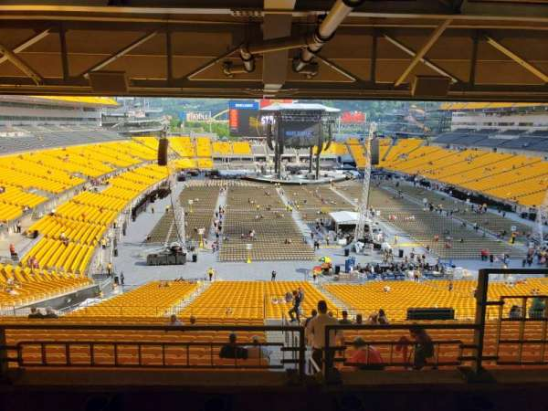 Heinz Field, section: NC-006, row: B, seat: 1
