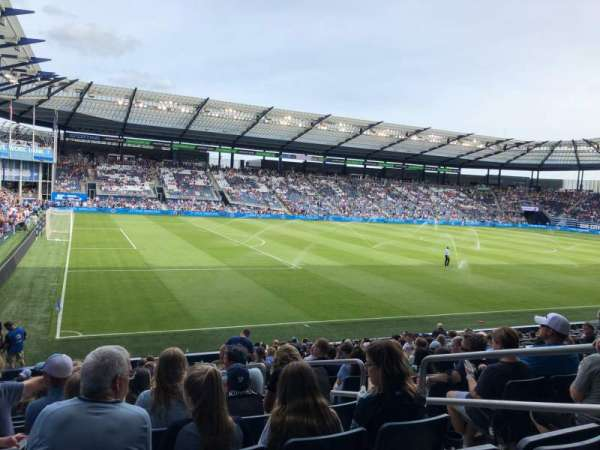 Children's Mercy Park, section: 101, row: 18, seat: 9