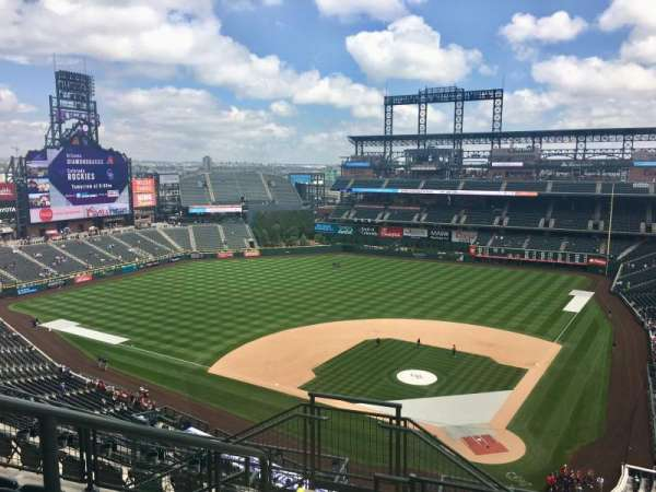 Coors Field, section: U333, row: 14, seat: 17