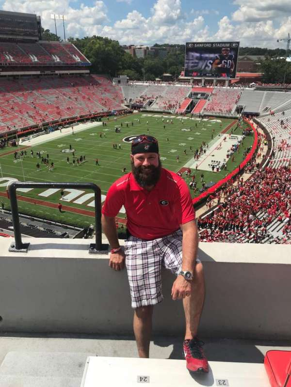 Sanford Stadium, section: 314