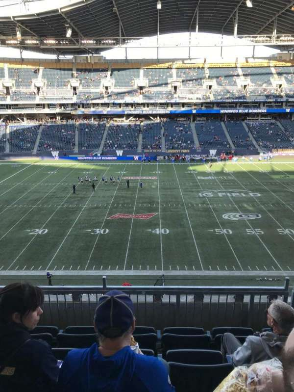 Investors Group Field, section: 231, row: 5, seat: 14and15
