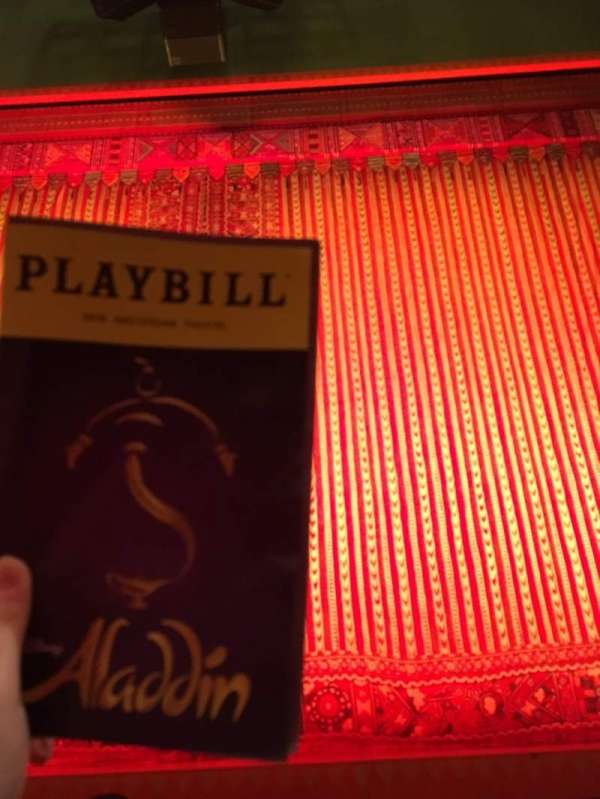 New Amsterdam Theatre, section: Orchestra C, row: D, seat: 106