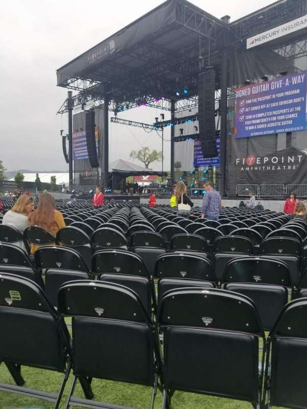 FivePoint Amphitheater, section: Orchestra 102, row: 4, seat: 19