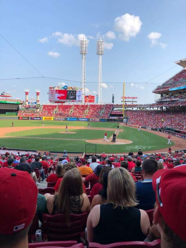 Great American Ball Park, section: 120, row: CC, seat: 13