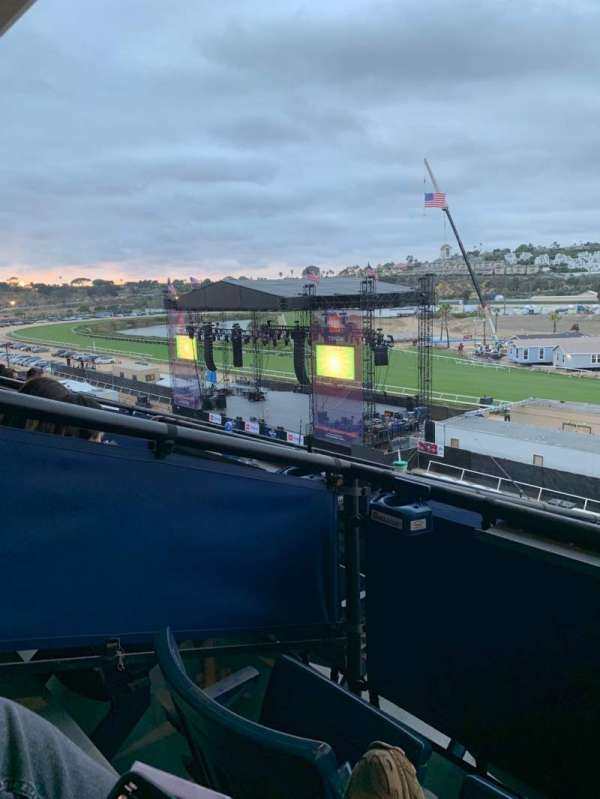 The Corona Grandstand Stage at the Del Mar Fairgrounds, section: Level 4, row: Box 15K, seat: 1