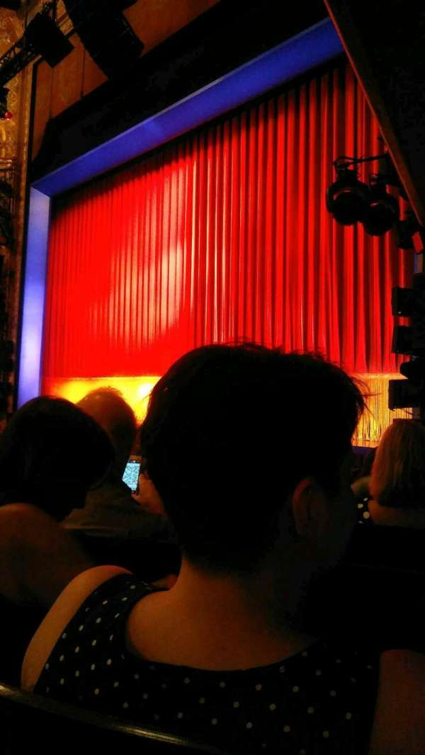 Longacre Theatre, section: Orchestra R, row: J, seat: 15