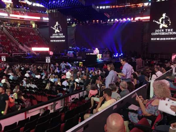 PNC Arena, section: Lower 120, row: G, seat: 13