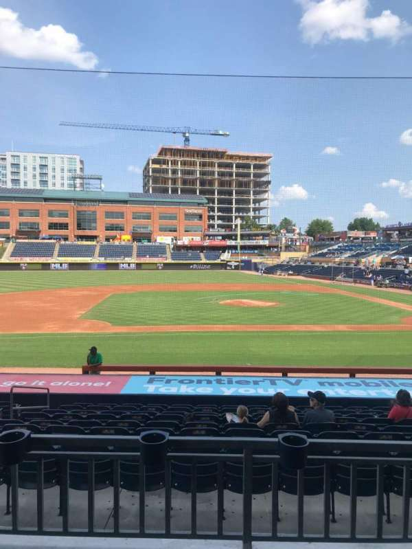 Durham Bulls Athletic Park, section: 207, row: M, seat: 17