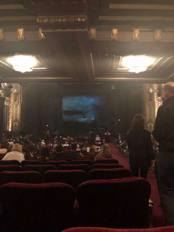 Hollywood Pantages Theatre, section: Orchestra C, row: VV, seat: 101