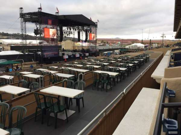 The Corona Grandstand Stage at the Del Mar Fairgrounds, section: BX 57A, row: 1, seat: 6