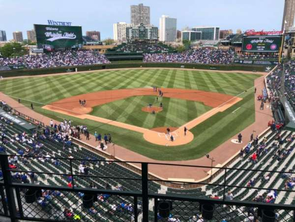 Wrigley Field, section: 316L, row: 3, seat: 8