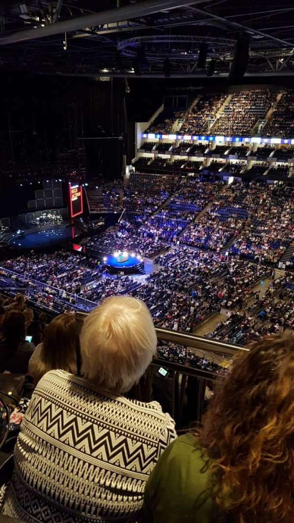 The O2 Arena, section: 406, row: J, seat: 580