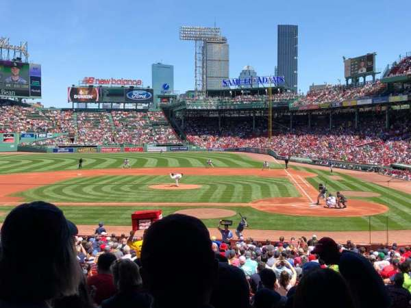 Fenway Park, section: Grandstand 24, row: 2, seat: 21