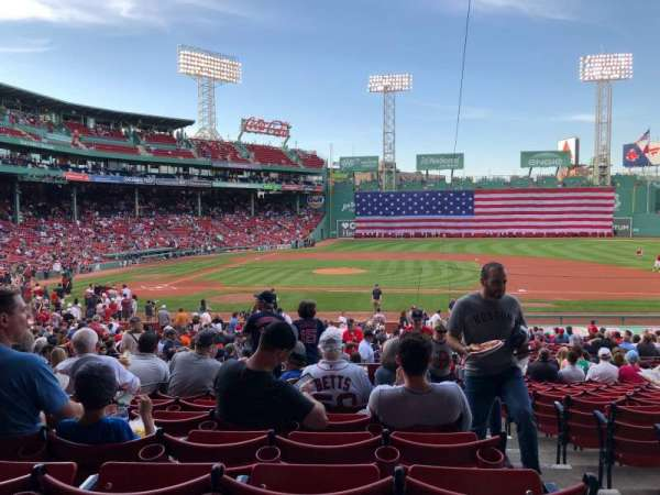 Fenway Park, section: GrandStand 16, row: 1, seat: 2