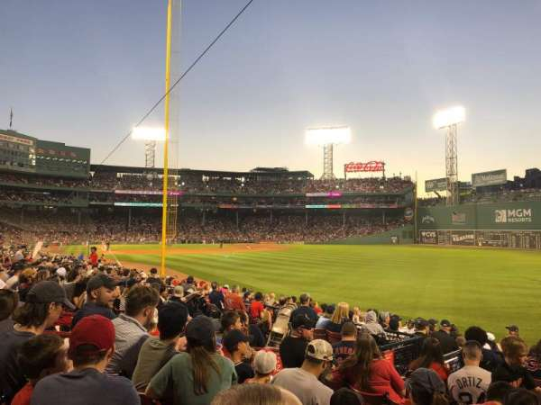 Fenway Park, section: Right Field Box 92, row: Kk, seat: 7