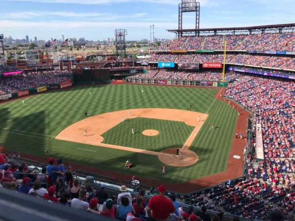 Citizens Bank Park, section: 423, row: 1, seat: 5