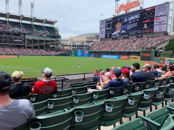 Progressive Field, section: 113, row: G, seat: 17