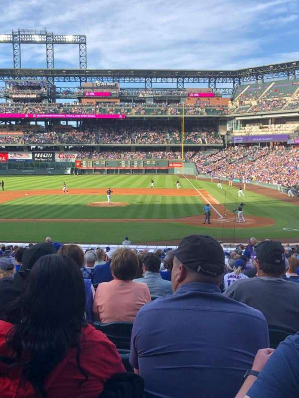 Coors Field, section: 136, row: 28, seat: 4