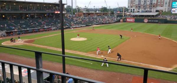 BB&T Ballpark (Charlotte), section: 203, row: A, seat: 8