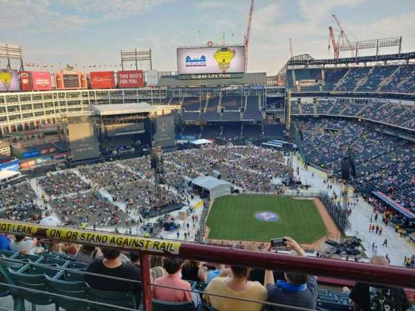 Globe Life Park in Arlington, section: 320, row: 10, seat: 10