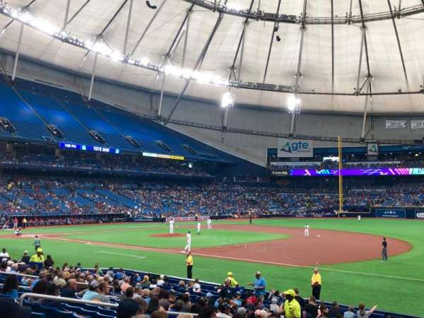 Tropicana Field, section: 126, row: X, seat: 10