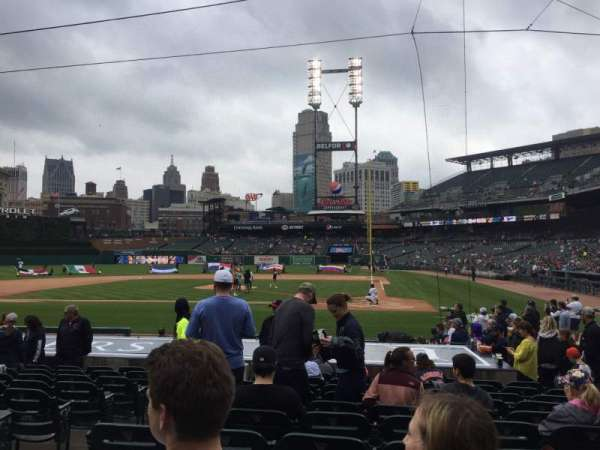 Comerica Park, section: 131, row: 17, seat: 9