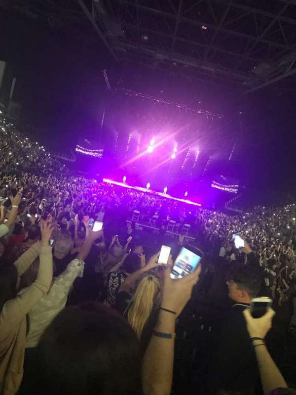 The O2 Arena, section: 102, row: G, seat: 202