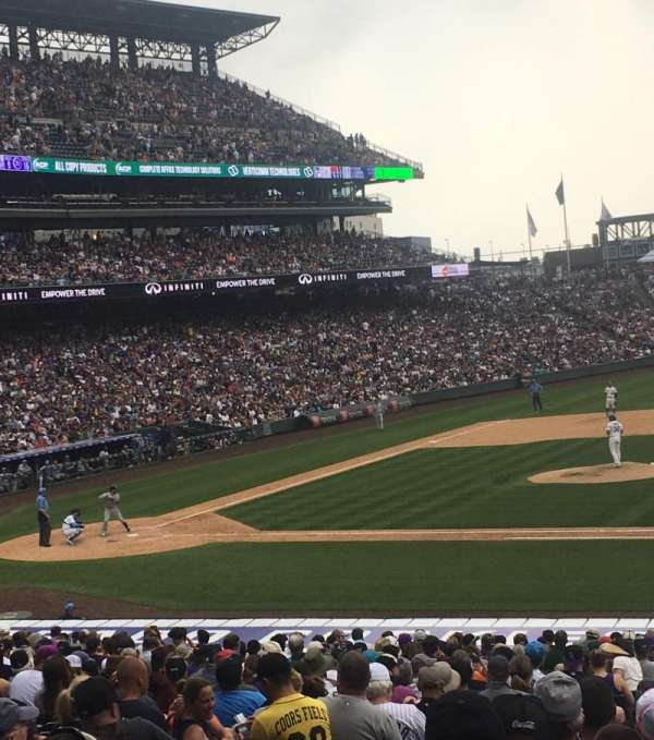 Coors Field, section: 122, row: 31, seat: 12