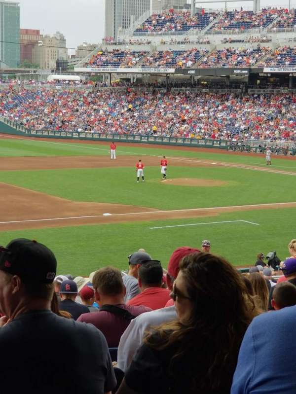 Td ameritrade park, section: 119, row: 28, seat: 14