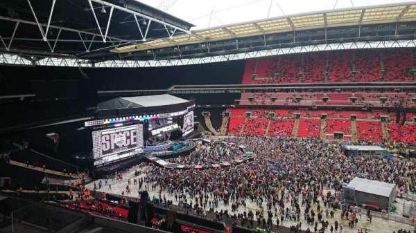 Wembley stadium , section: 527, row: 8, seat: 3