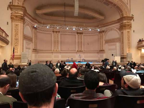 Carnegie Hall, section: Parquet C, row: U, seat: 5