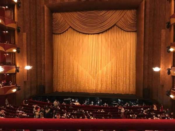 Metropolitan Opera House - Lincoln Center, section: Grand Tier, row: A, seat: 110