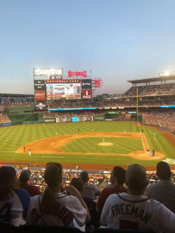 Nationals Park, section: 210, row: E, seat: 19