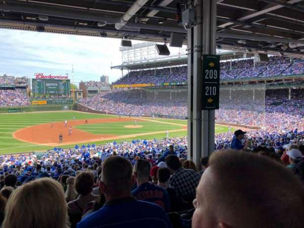 Wrigley Field, section: 209, row: 13, seat: 14