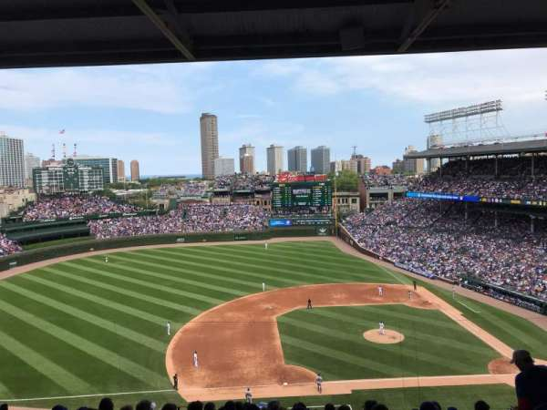 Wrigley Field, section: 411L, row: 4, seat: 4