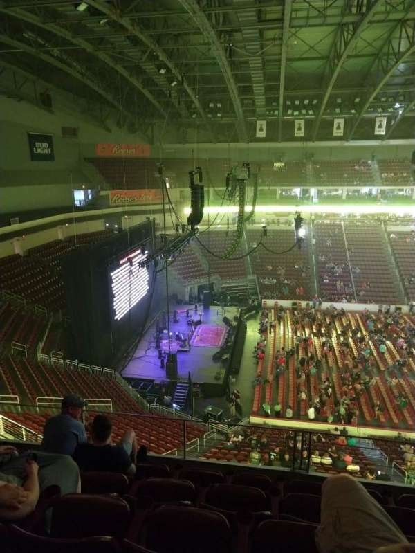 Giant Center, section: 218, row: E, seat: 1