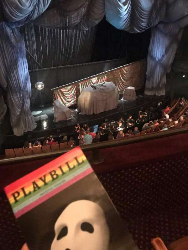 Majestic Theatre, section: Front Mezzanine L, row: B, seat: 21
