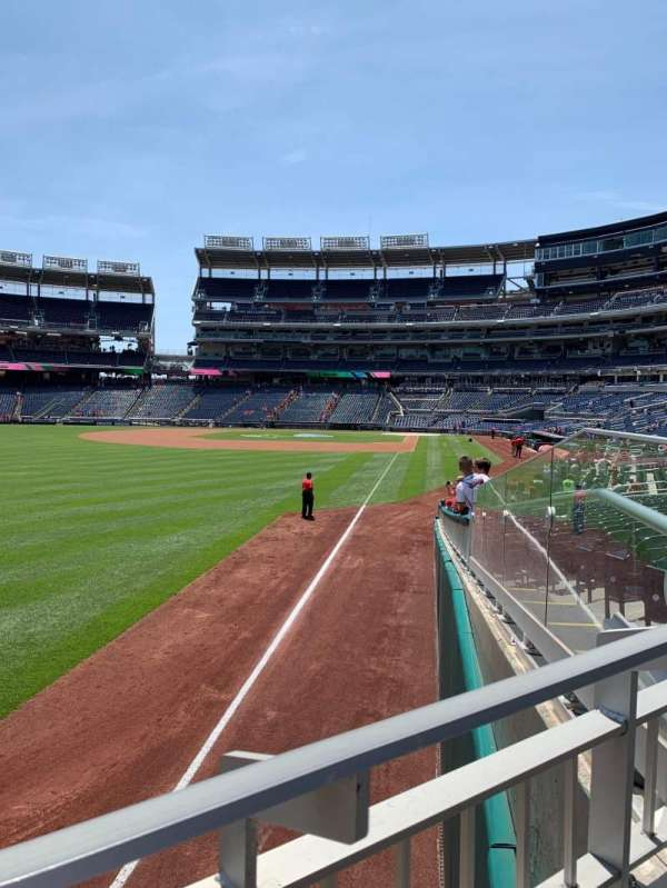 Nationals Park, section: 107, row: X, seat: 3
