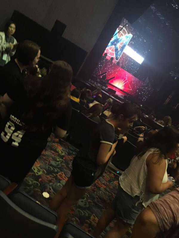 Rosemont Theatre, section: 112, row: L, seat: 6