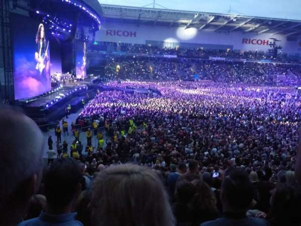 Ricoh Arena, section: 18, row: X, seat: 16