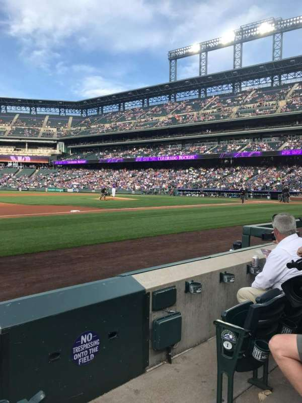 Coors Field, section: 141, row: 3, seat: 3