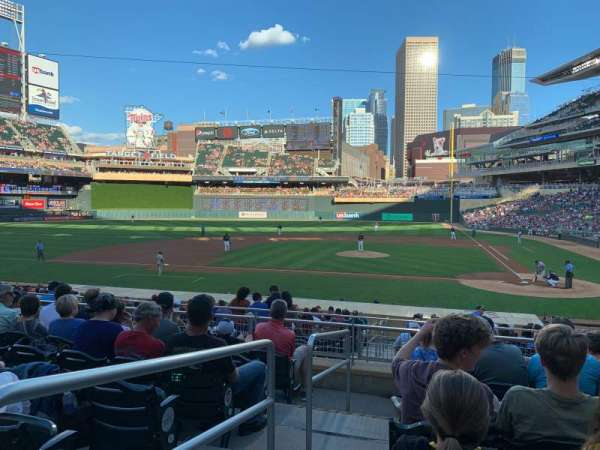 Target Field, section: 118, row: 7, seat: 18