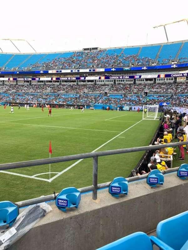 Bank of America Stadium, section: 106, row: 2, seat: 5