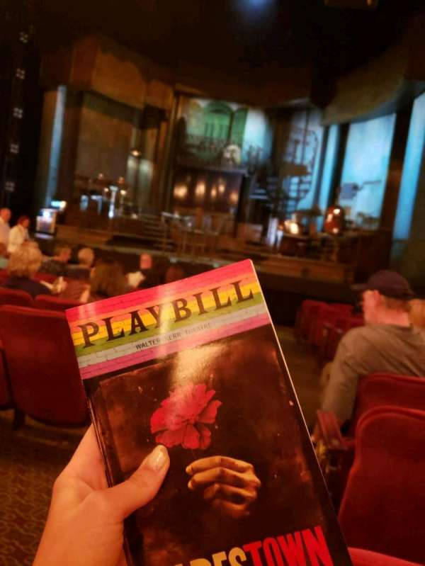 Walter Kerr Theatre, section: orchestra r, row: N, seat: 2
